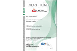 Zell-Metall USA ISO Certification