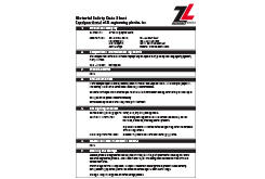 Acetal Copolymer MSDS Data Sheet (ZL® 900C Series)