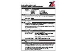 Acetal Homopolymer MSDS Data Sheet (ZL® 900H Series)
