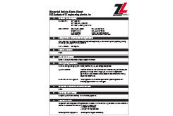 PET MSDS Data Sheet (ZL® 1400 Series)