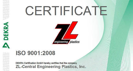 ZL Engineering Plastics News / Successful audit: ISO 9001:2008 re ...
